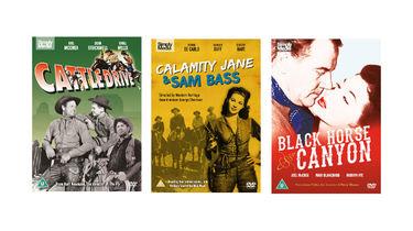 Black Horse Canyon, Calamity Jane & Sam Bass, Cattle Drive on DVD