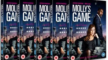 Win a copy of Molly's Game on DVD