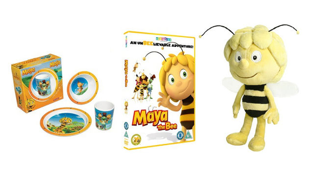 MAYA THE BEE DVD/Cup & Plate Set & Cuddly Toy