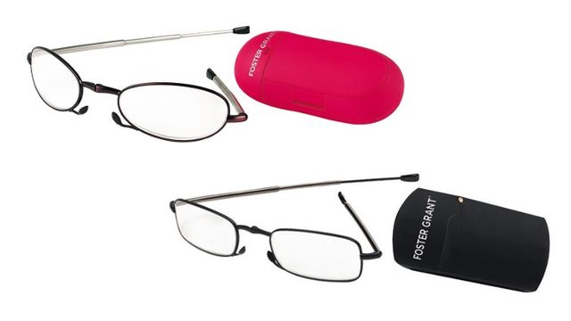 win a pair of foster grant s micro folding reading glasses