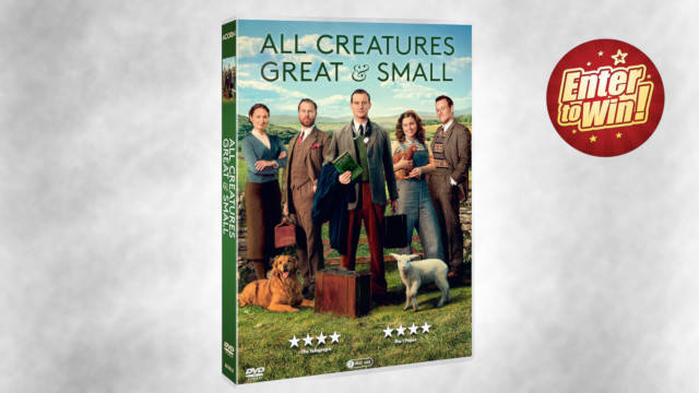 For your chance to own 1 of 5 copies of All Creatures Great and Small DVD; simply answer the question below: