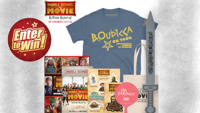 Horrible Histories: The Movie – Rotten Romans Goody Bag up for grabs