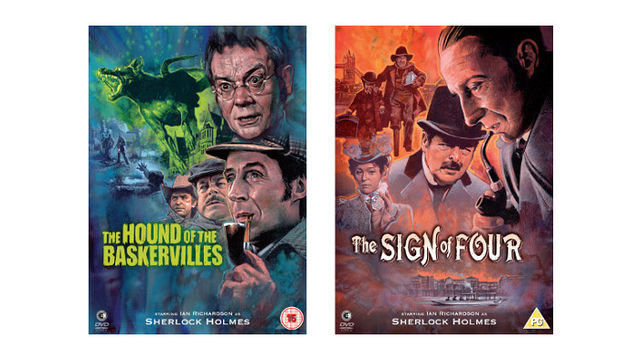 Sherlock Holmes mysteries The Hound of the Baskervilles & The Sign of Four DVDs