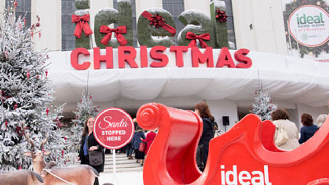 Ideal Home Show at Christmas at Olympia London
