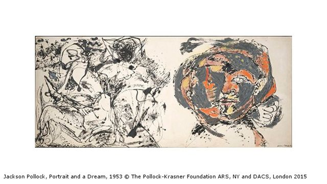 Jackson Pollock: Blind Spots at Tate Liverpool - Jackson Pollock, Portrait and a Dream, 1953 © The Pollock-Krasner Foundation ARS, NY and DACS, London 2015