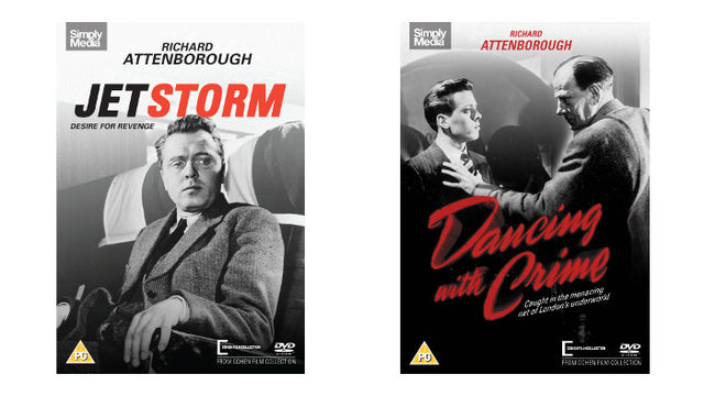 Richard Attenborough's classic films: Jet Storm and Dancing with Crime on DVD