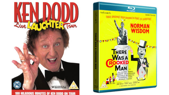 Win a bundle of Ken Dodd Live Laughter Tour DVD & Norman Wisdom There Was a Crooked Man Blu-ray
