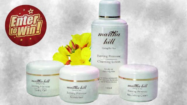 To win the Martha Hill Evening Primrose Skin Care set