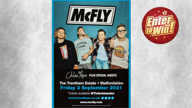 Win a pair of tickets to see McFly at Trentham Live 2021 on Friday 3rd September!