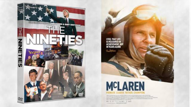 Win a bundle of The Nineties and McLaren on DVD