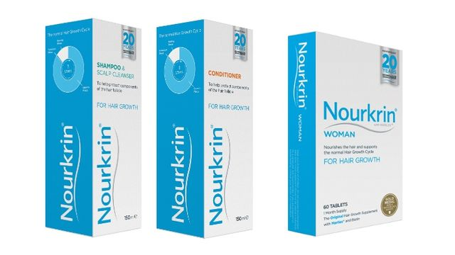 Nourkrin® Hair Care Pack: Nourkrin® WOMAN Tablets, Shampoo & Scalp Cleanser and Conditioner