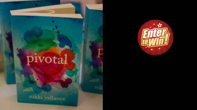To win 1 of 5 signed copies of new relationships mystery novel, Pivotal, by Nikki Vallance