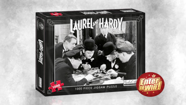 WIN NEW LAUREL AND HARDY 1000 PIECE PUZZLE FROM RACHEL LOWE GAMES AND PUZZLES