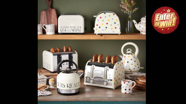 WIN a Russell Hobbs and Emma Bridgewater Kettle and Four-Slice Toaster Set!