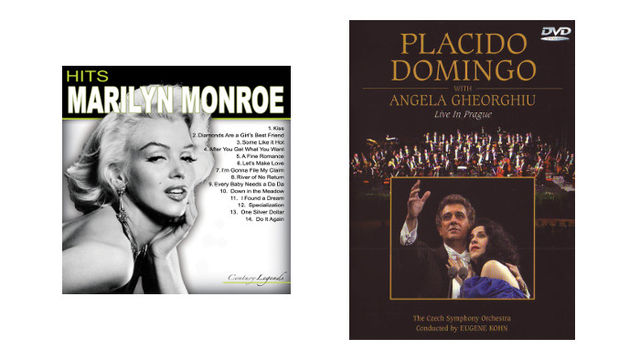 Placido Domingo Live in Prague DVD and Marilyn Monroe – Hits CD