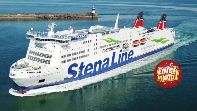 Win Ferry Travel (Holyhead to Dublin or Fishguard to Rosslare) by Stena Line