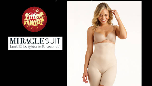 Your chance to have the Miraclesuit Instant Tummy Tuck Hi-waist Thigh Slimmer (worth £52.50)