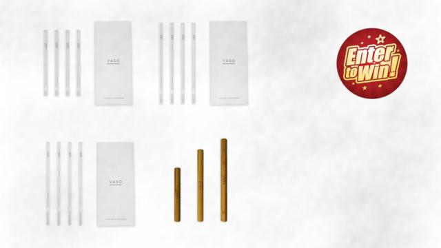 WIN a Bundle of VASO Premium Glass Straws & Travel Cases