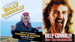 Win a pair of tickets to see Billy Connolly: The Sex Life of Bandages in Cinema on 10 October and a copy of Billy Connolly Live: The Greatest Hits DVD