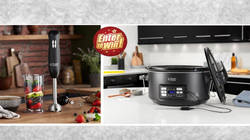 WIN a Russell Hobbs Sous Vide Slow Cooker and Desire Matte Black 3 in 1 Hand Blender