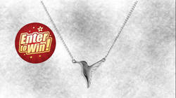 Your chance to have a Jana Reinhardt Handmade Sterling Silver Tiny Hummingbird Pendant Necklace (worth £89)