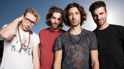 MAGIC! Nasri (lead singer), Mark Pelli (guitar), Ben Spivak (bass) and Alex Tanas (drums)
