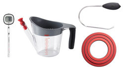OXO Christmas Tools: stainless steel handle, digital thermometer, three-ring trivet set, fat separator