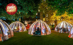To win a Champagne Afternoon Tea for Two in The Domes at London Secret Garden Kensington (worth £90) from Buyagift