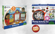 To win a bundle of Learning Resource® Pretend & Play School Set & Money Activity Set
